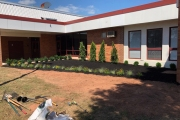 school-landscaping-during